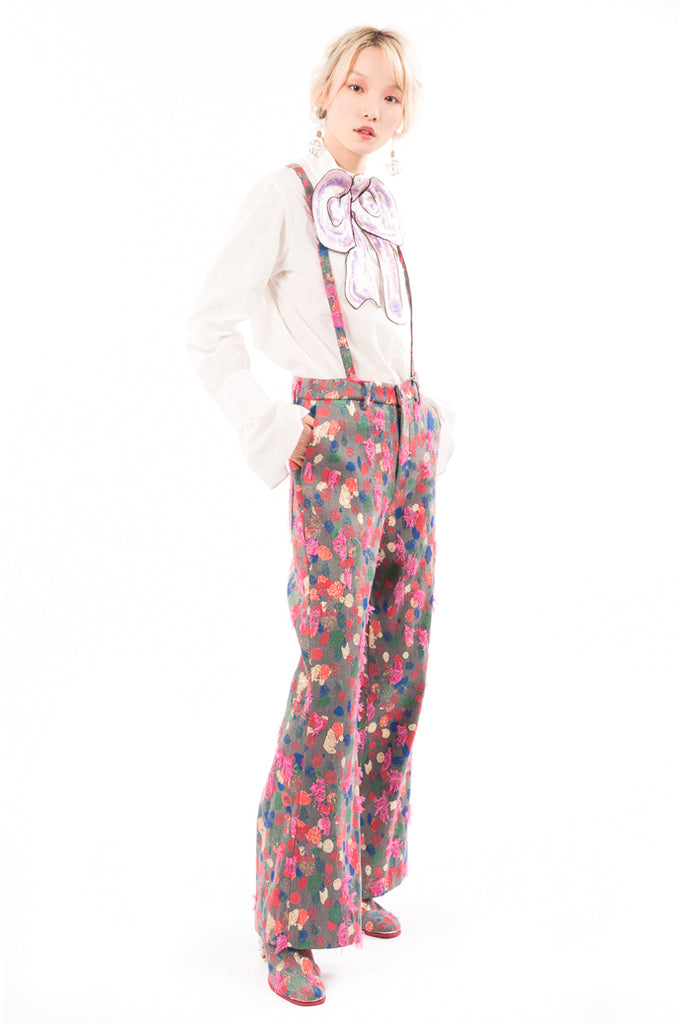 Colorful Dot Jacquard Pants