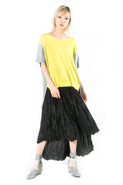 Heat Set Pleated Chiffon Skirt