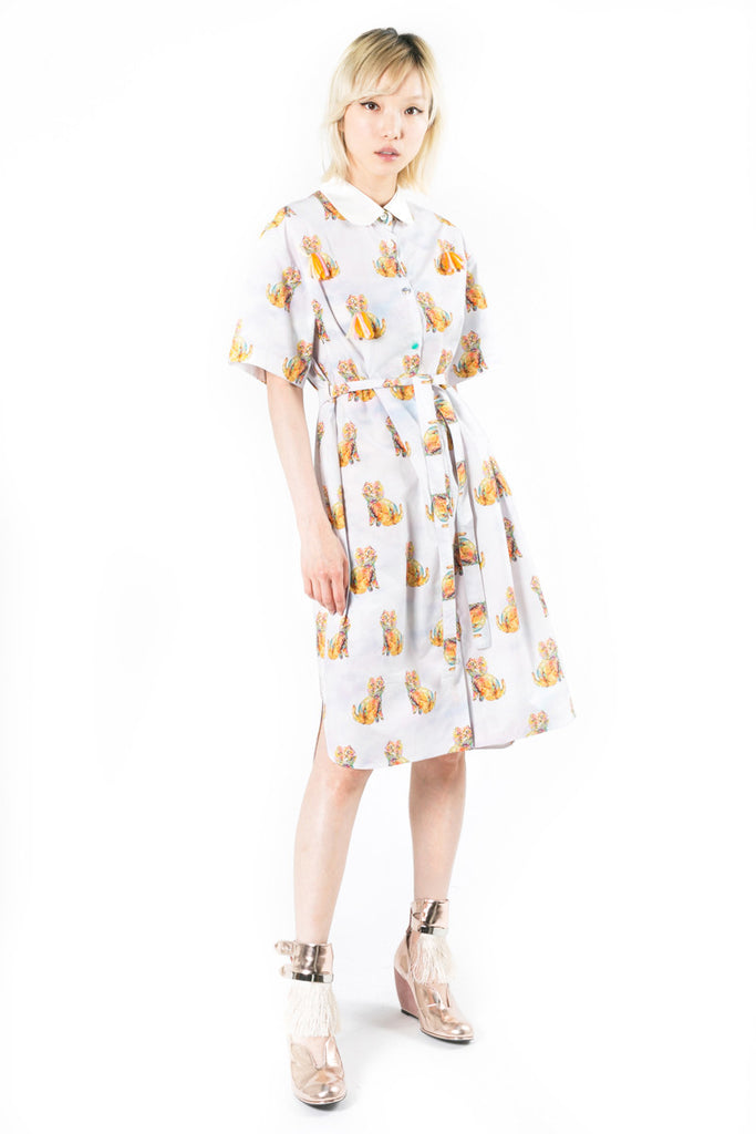 """Bilbao Cat"" Long Cotton Dress"