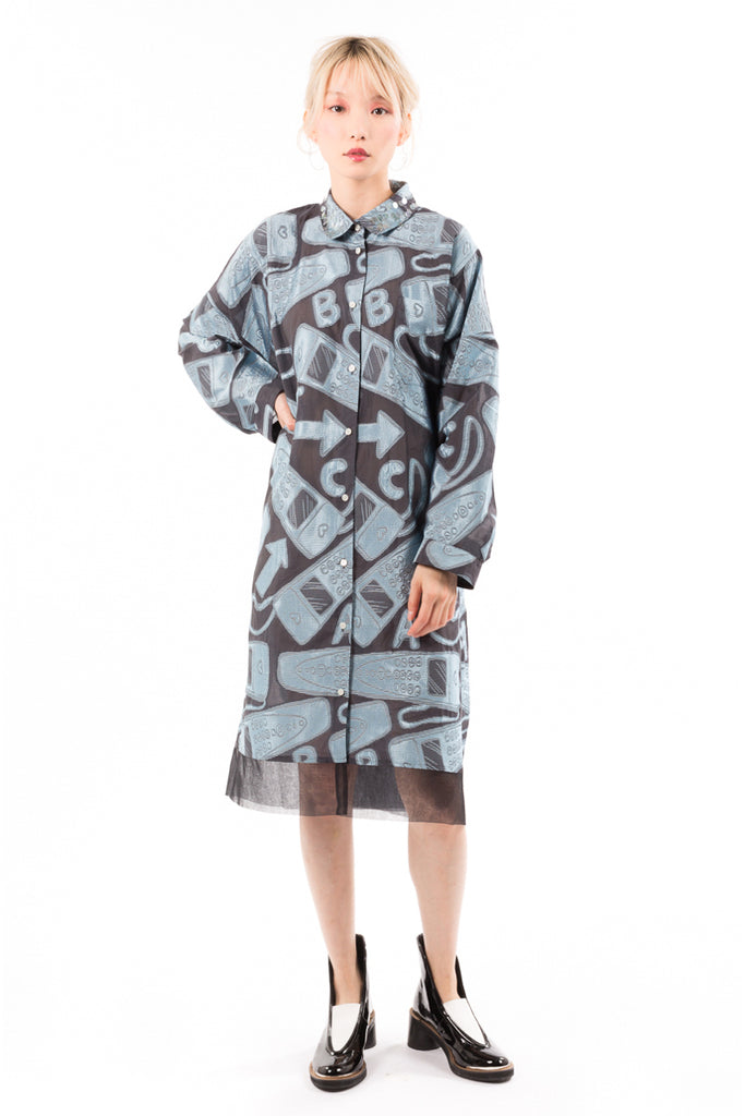 Audio Guide Jacquard Dress
