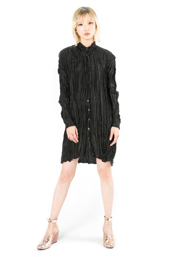 Heat Set Pleated Chiffon Dress