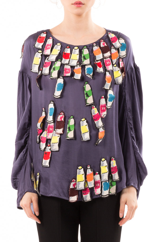 Paint Tube Embroidery Top