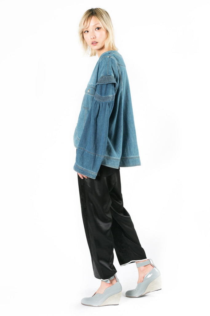 Oversize Cropped Denim Jacket