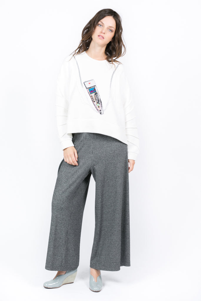 """Audioguide"" Cropped Sweatshirt"