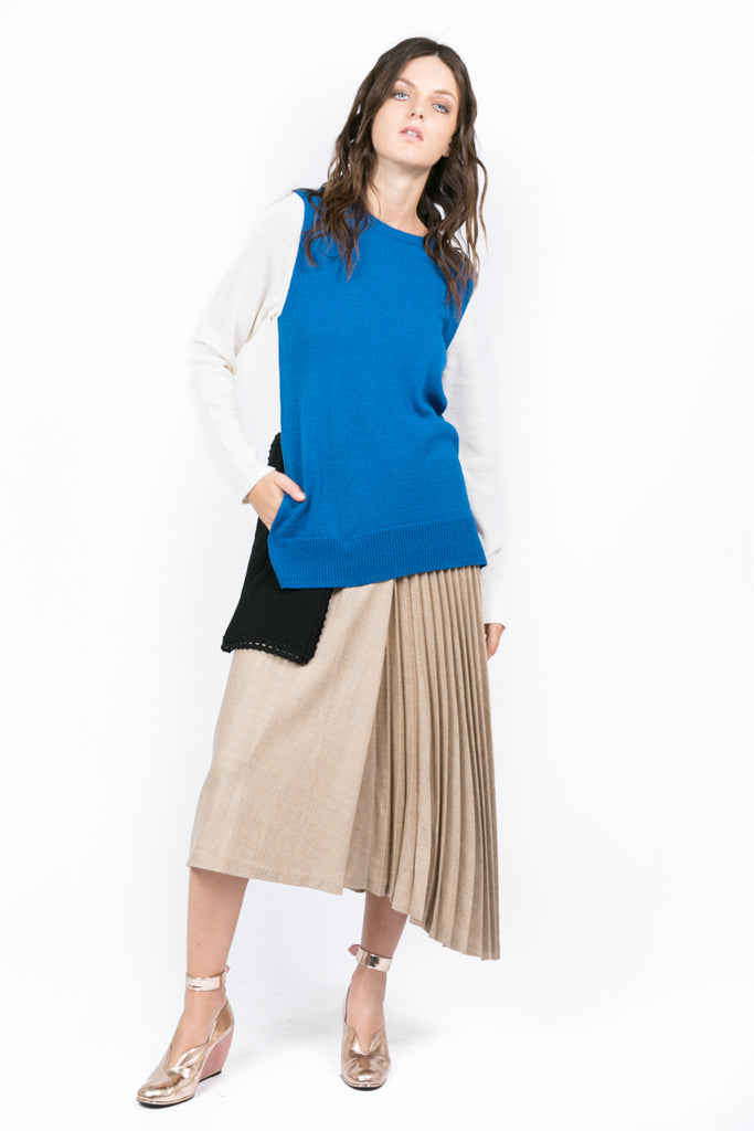Contrasted Pocket Sweater