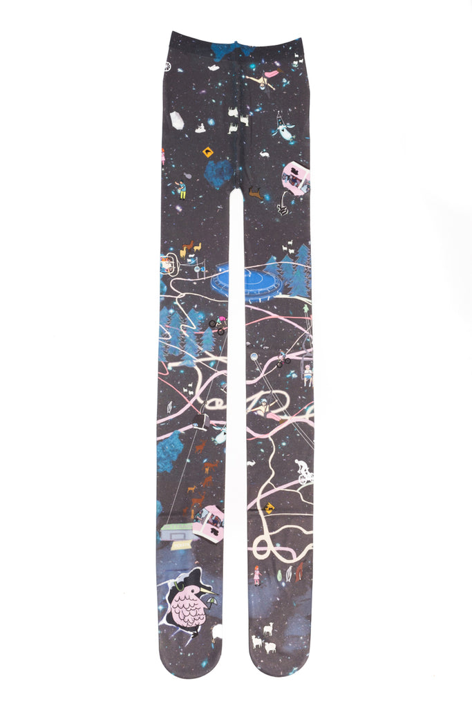 """Attraction Map"" Tights"