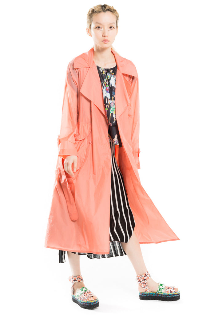 Lightweight Revisited Trench Coat