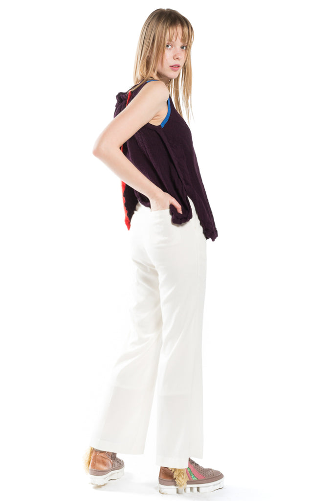 """Creperie Multi Line"" Sleeveless Top"