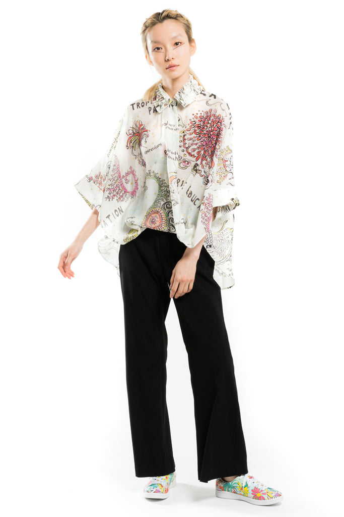 """Reef Creature"" Silk Blouse"