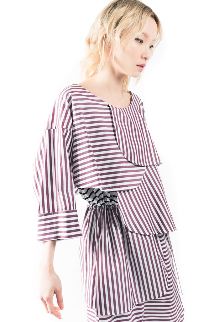 """Stripe Frill"" T Dress"
