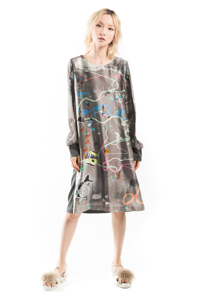 """Attraction Map"" Docking Dress"
