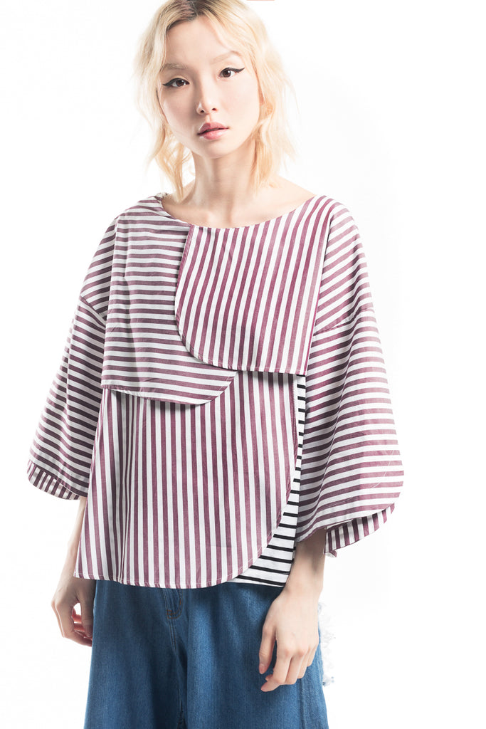 """Strip Frill Geometric"" Top"