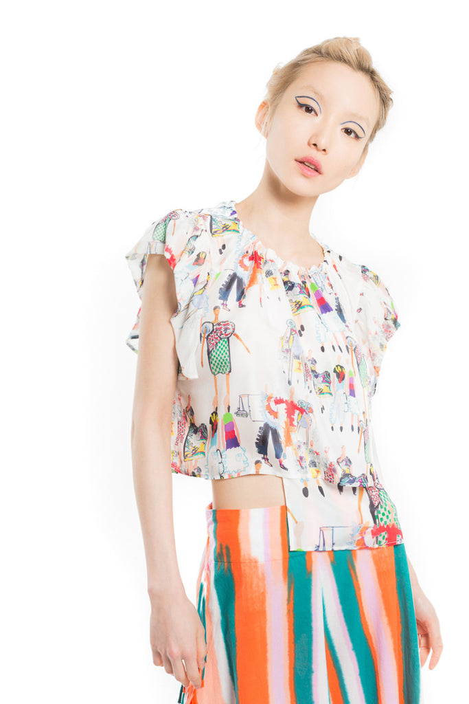 """Runway Print"" Docking Top"