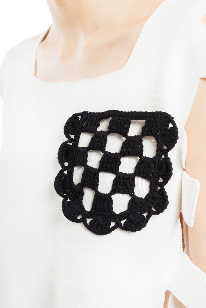 """Uneven Rib"" Geometric Knit Top"