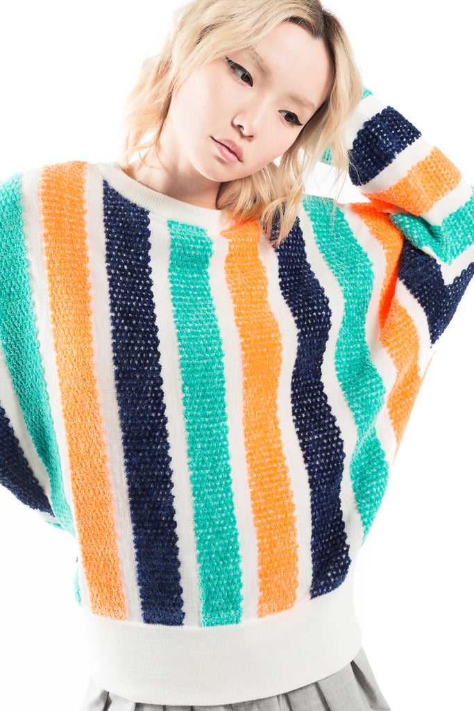 """Thread Stripe"" Oversize Sweater"