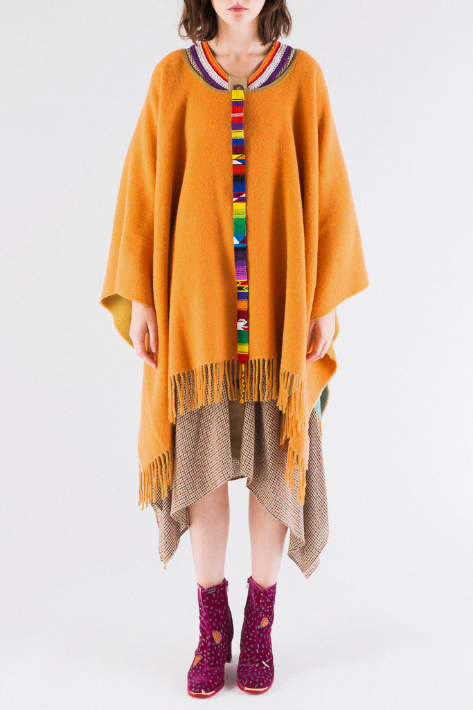 Reversible Colorful Poncho
