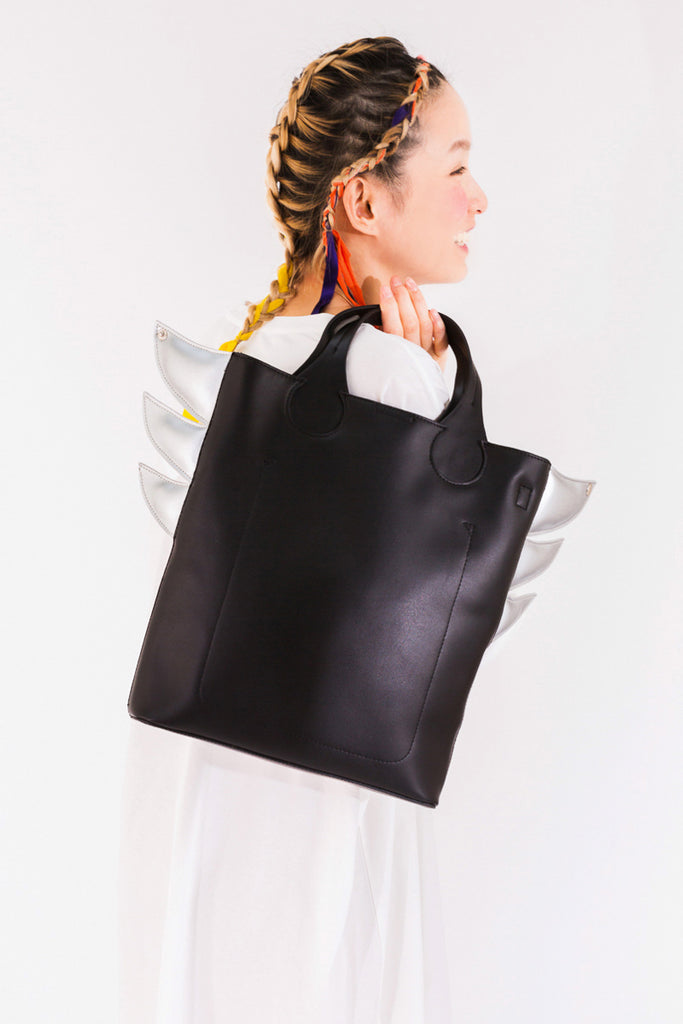 """Silver Wings"" Leather Bag"