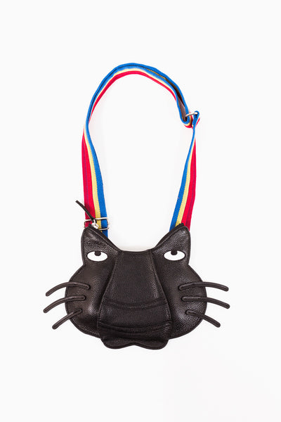 """Cat's Face"" Leather Bag"