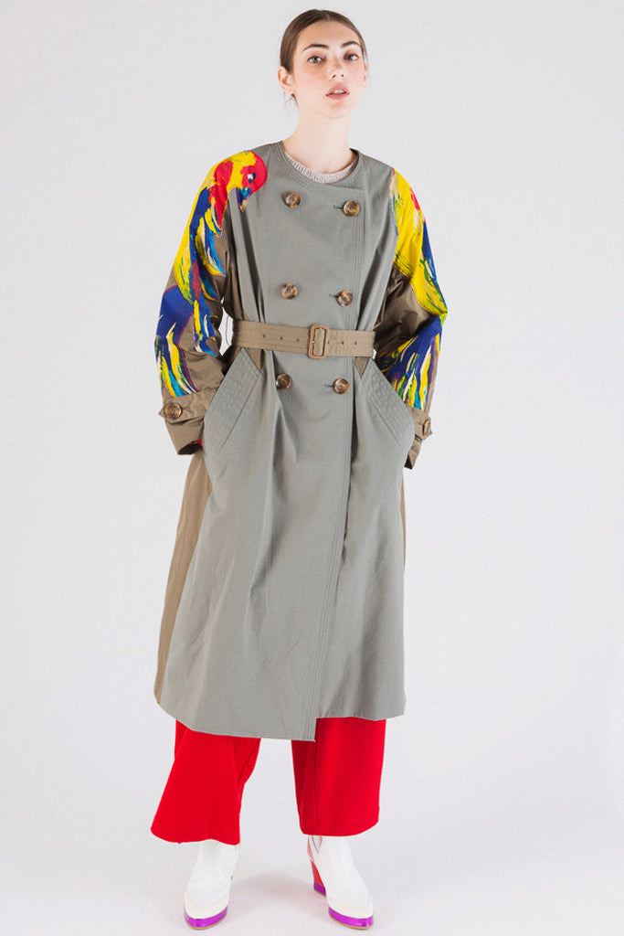 Guatemala Bird Trench Coat