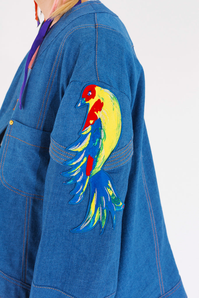 """Golden Birds"" Denim Jacket"