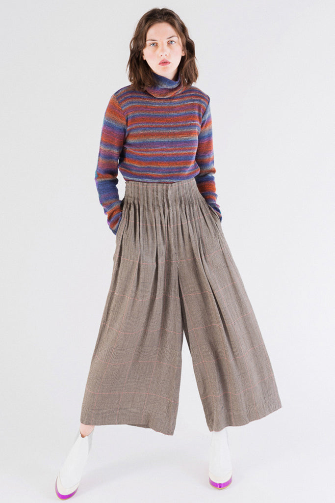 Check Docking Wide Pants