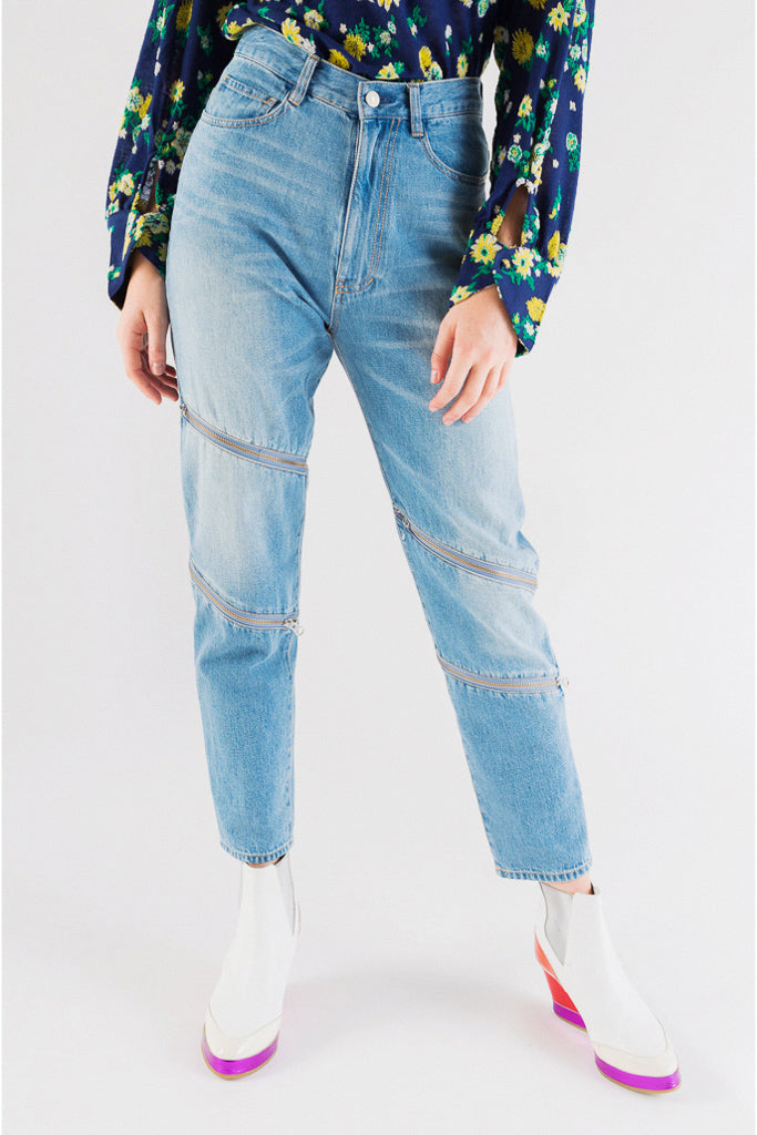 Switching Denim Pants