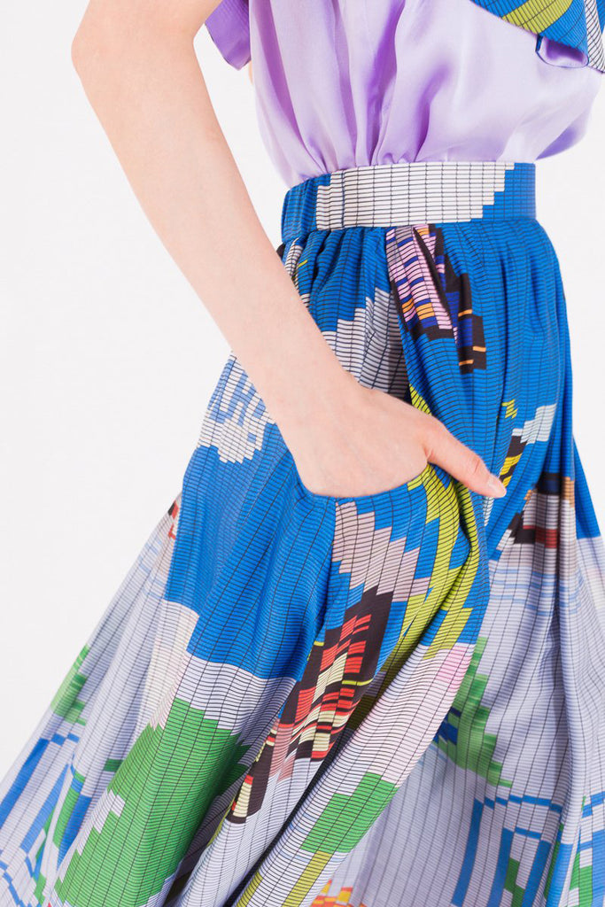 """Guatemala Pixel"" Long Skirt"