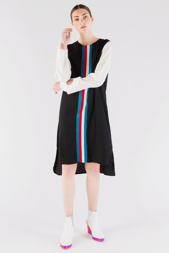 Marianna Stripe Long Sleeves Dress