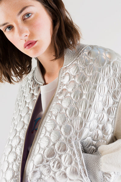 Silver Circle Quilted Jacket