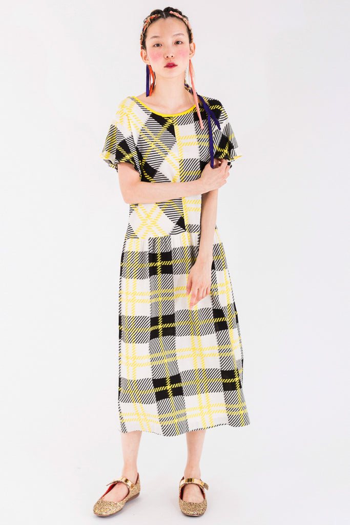 Patchwork Tartan Dress