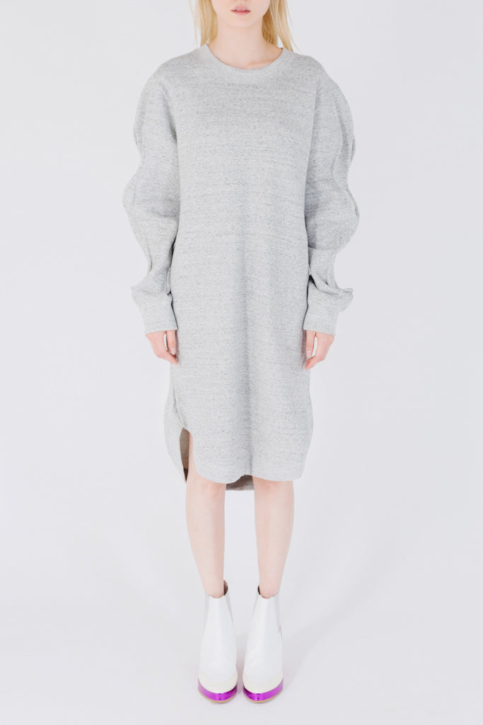 Wavy Sweatshirt Dress