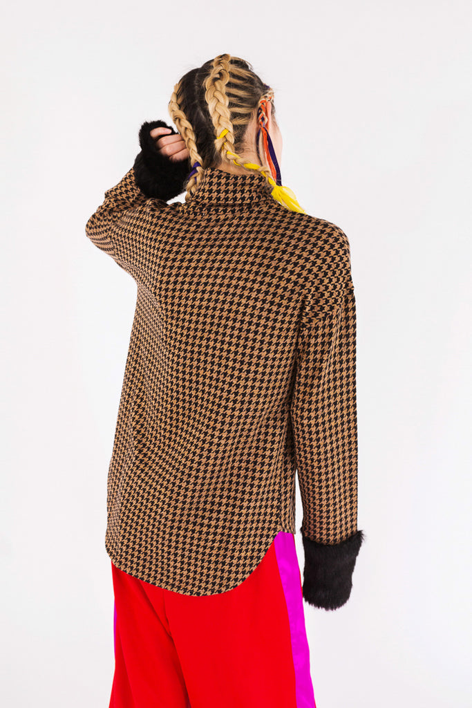 """Houndstooth Jacquard"" Sweater"