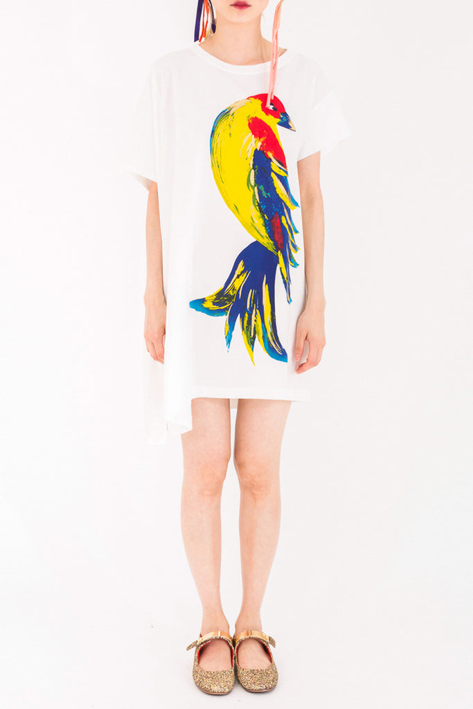 """Golden Bird"" Jersey Dress"