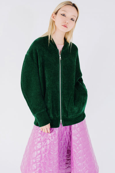 Chenille Zipped Sweatshirt
