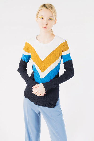 Crêperie Colorblock Top