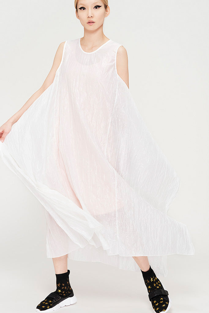 Pleated Lurex Dress