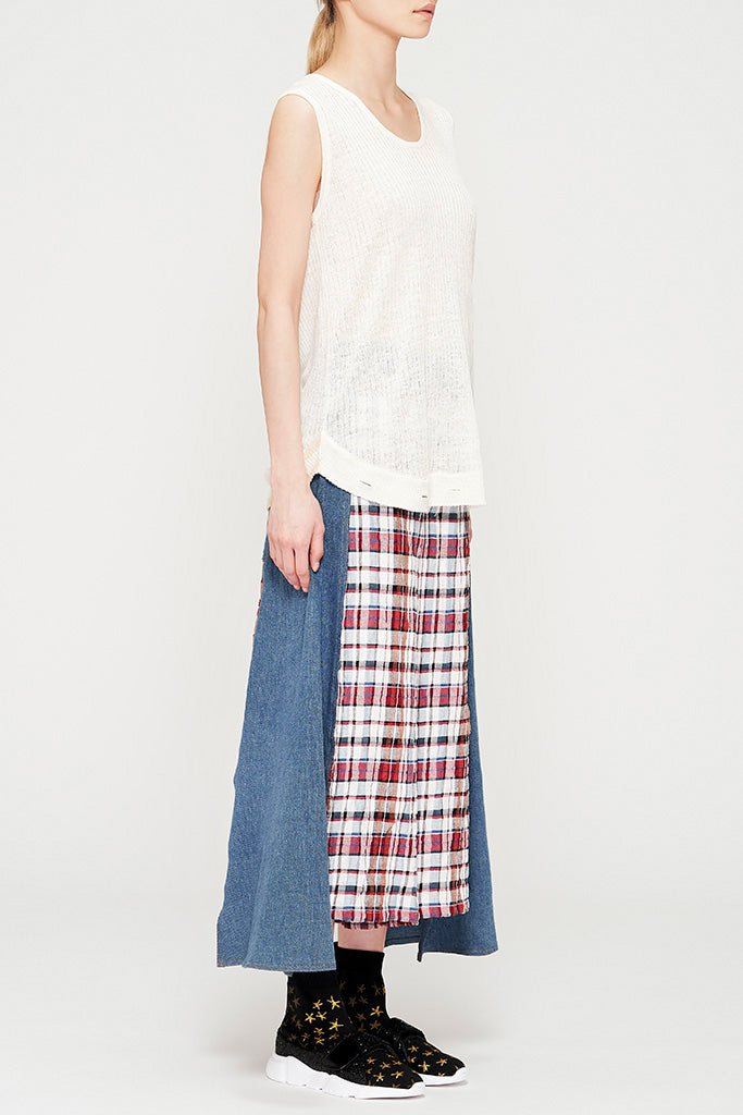 Linen Summer Knit Tank Top