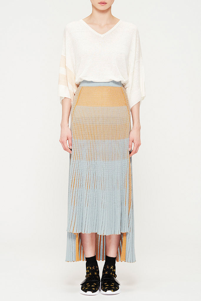 Cotton Silk Knit Skirt
