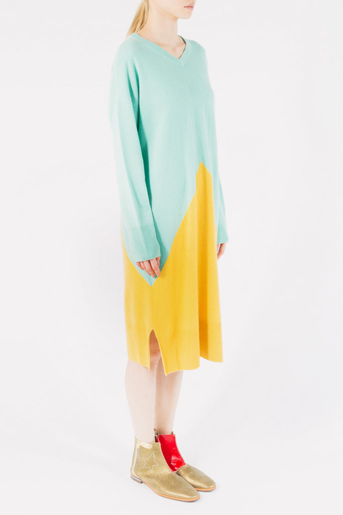 Pyramid Cashmere Dress