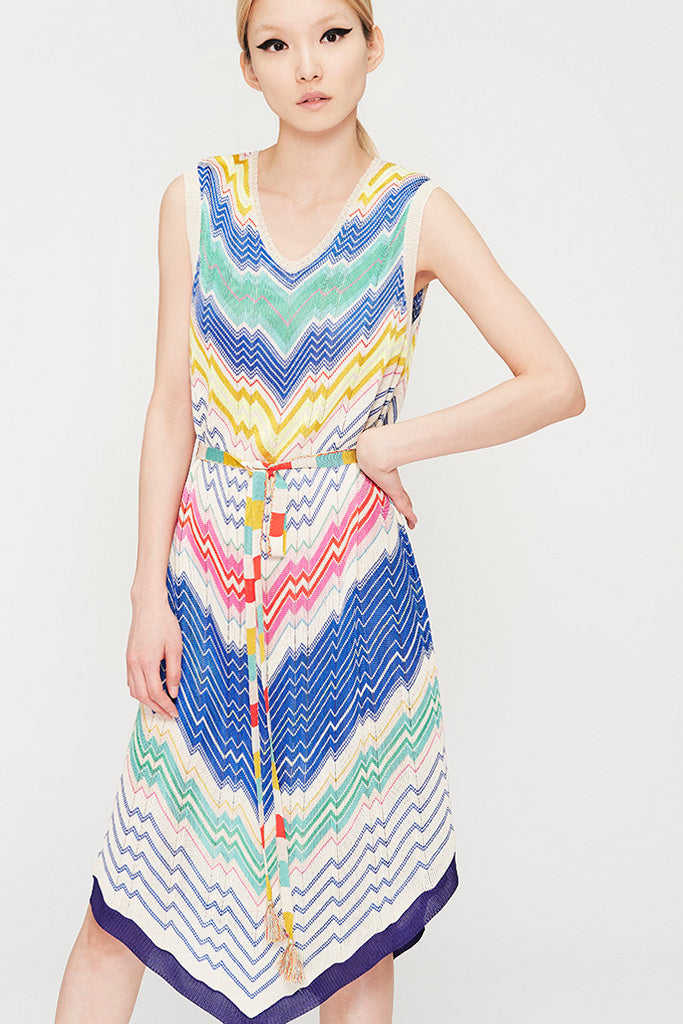 Zig Zag Rainbow Dress