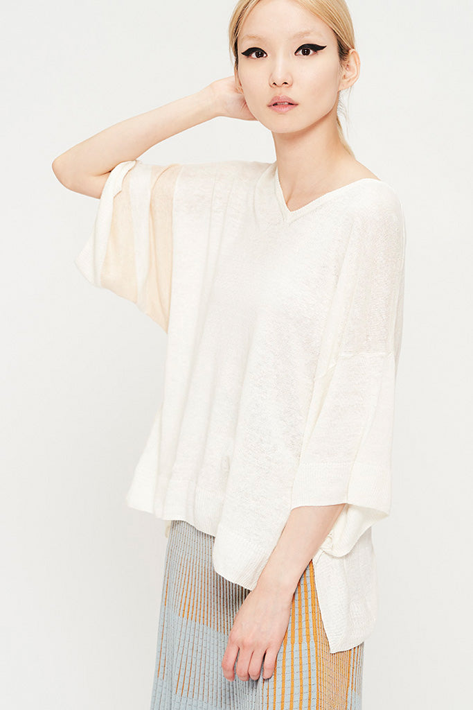 Linen Summer Knit Top