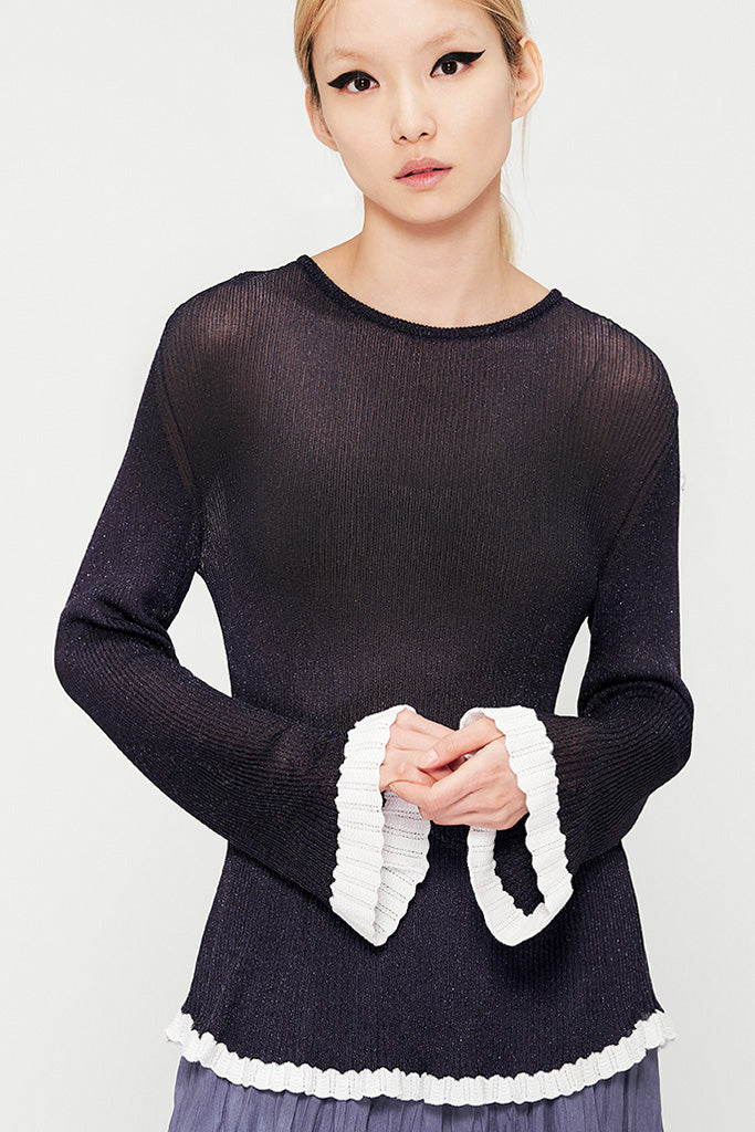 Spark Lame Knit Sweater