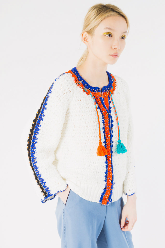 Crochet Tape Knit Cardigan