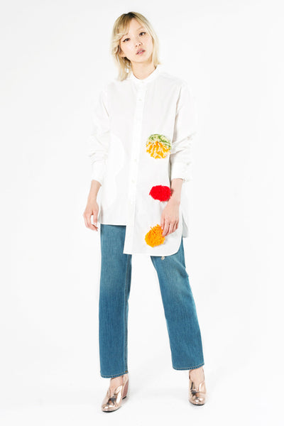 """Palette"" Cotton Pompom Shirt"