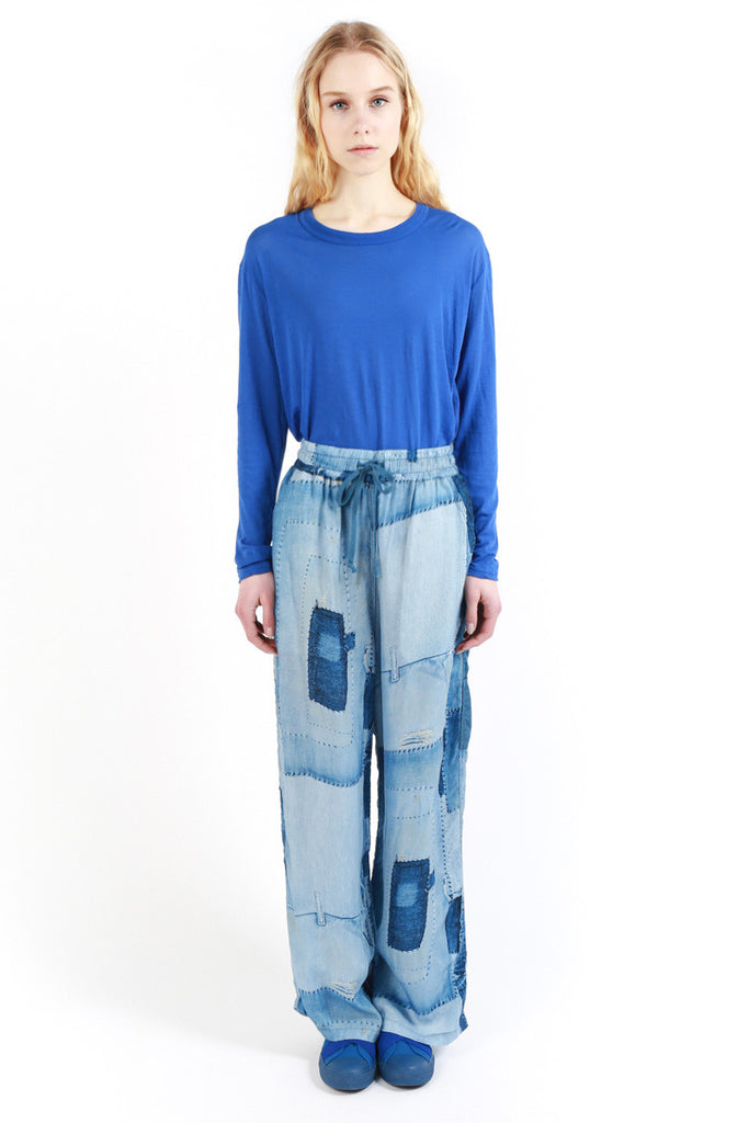 « Denim Patchwork Print » Light Pants