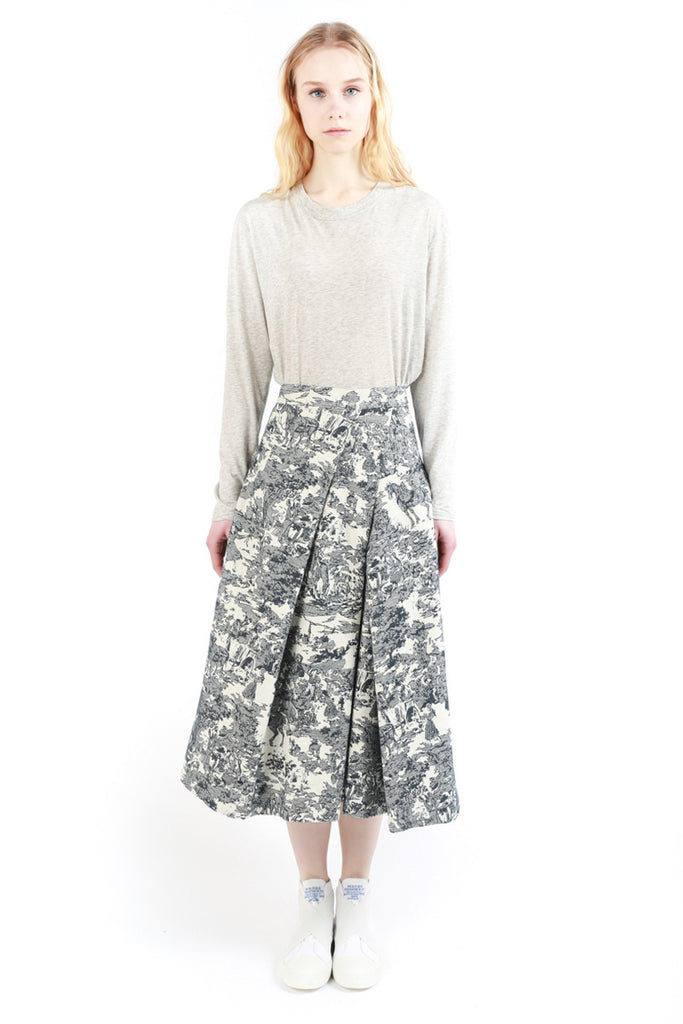 «Jouy» Flounced Skirt