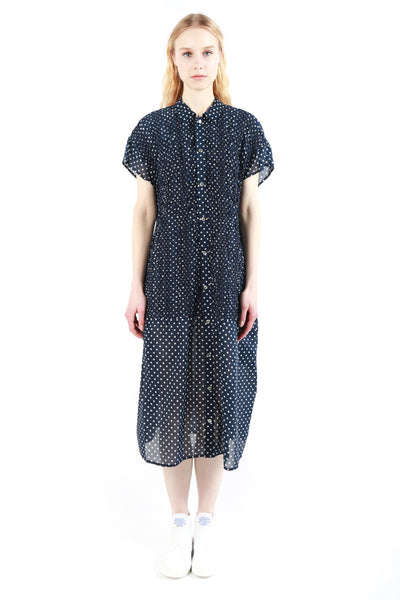 """Gathered Polka Dots"" Dress"