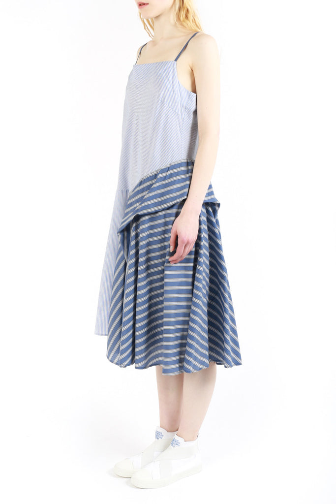 « Countryside » Stripped Sleeveless Dress