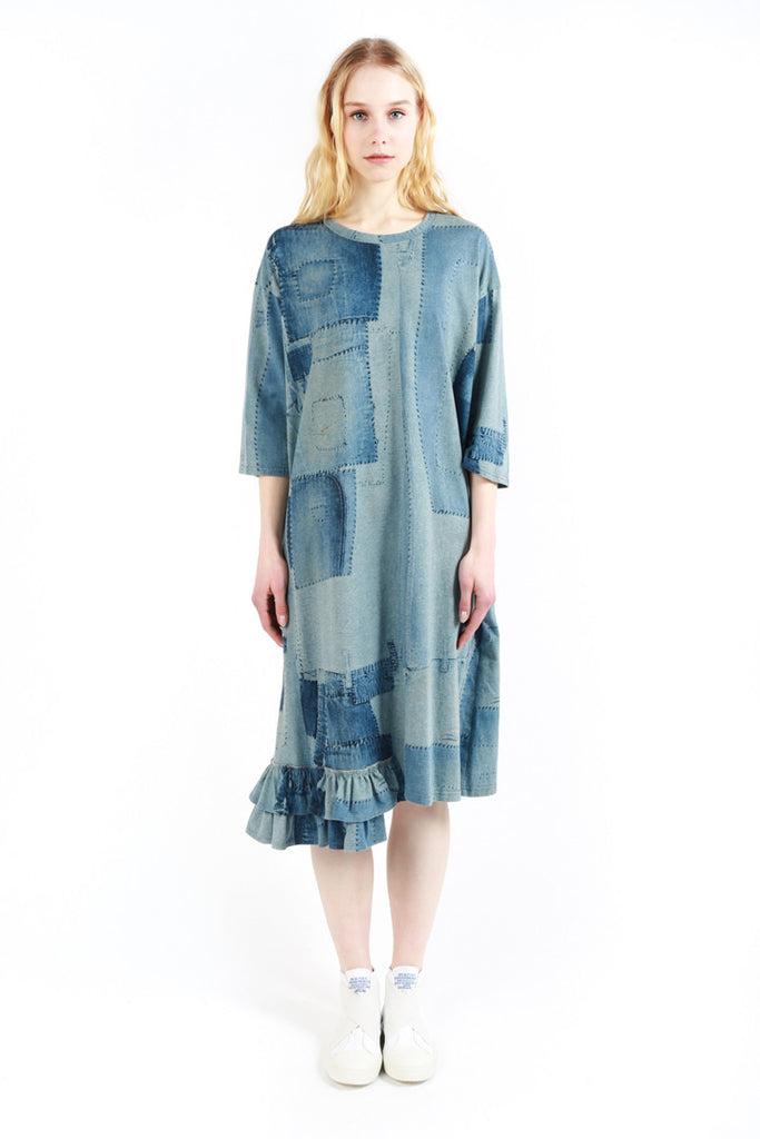 """Denim Patchwork"" Dress"