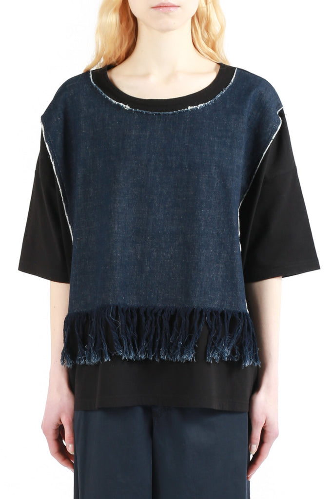 «Denim Fringes» T-shirt